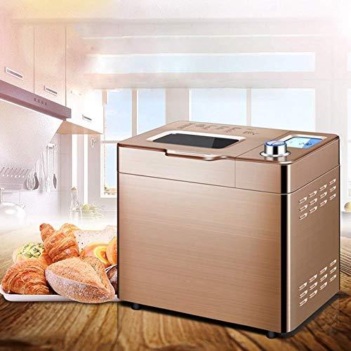 DYB Máquina automática para Hacer Pan, Máquina para Hacer Pan Digital Acero Inoxidable Máquina para Hacer Pan automática Nueces Tostadora de café Fermentación de Yogurt Máquina para Hacer Pastel