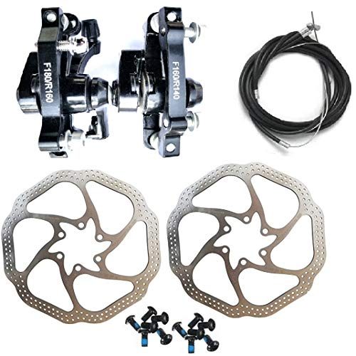 Fat-Cat MTB Bike Mechanical Disc Brake Front and Rear 160mm Whit Bolts and Cable (TongLi)