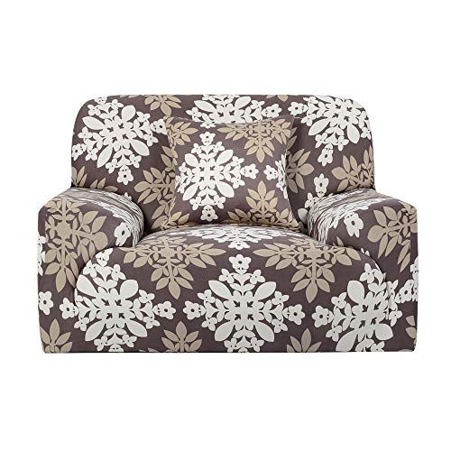 Sourcingmap Printed Sofa Cover Stretch Couch Covers Sofa Slipcover for 1 2 3 4 Cushion Couch Slipcovers for Sofas Loveseat Armchair Elastic Protector with One Free Pillowcase Small