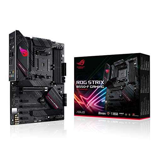 ASUS ROG Strix B550-F Gaming Mainboard Sockel AM4 (ATX, Ryzen, PCIe 4.0, Intel 2,5 Gbit/s-Ethernet, 2x M.2 mit Kühlern, SATA 6Gbit/s, USB 3.2 Gen 2, Aura Sync)