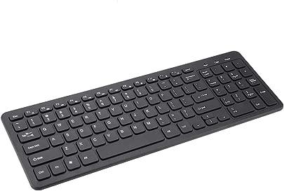 VBESTLIFE Kabellose Tastatur Ergonomisches Design Universelle tragbare schlanke leichte 96-Tasten-Tastatur f r PC-Notebooks mit USB-Empf nger und FN-Medienschl ssel Schätzpreis : 13,15 €