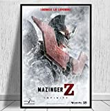 Mazinger Z Infinity Japanese Movie Manga Anime Kids Gift Poster and Prints Painting Art Wall Pictures Home Decor 50 × 70Cm Sin Marco