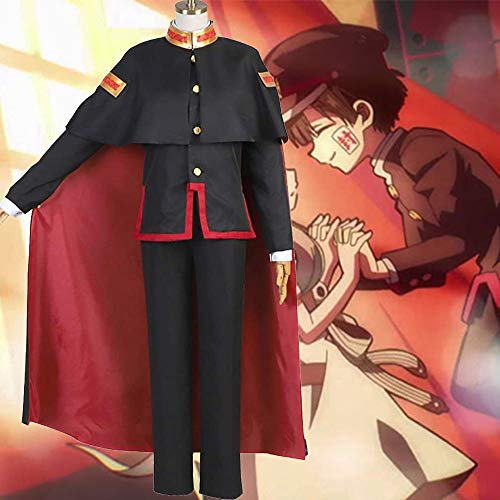 Vestiti Cosplay Anime WC-Bound Hanako-Kun Uniform Cosplay Cosplay Outfit Anime Abbigliamento Stage Performance Set Completo Black-S