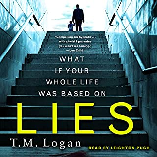 Lies                   Written by:                                                                                                                                 T. M. Logan                               Narrated by:                                                                                                                                 Leighton Pugh                      Length: 10 hrs and 45 mins     7 ratings     Overall 4.1