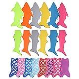 20 Pack Ice Pop Holders Popsicle Holder Bags Mermaid and Shark Ice Pop Sleeves Freezer Pop Holders Bags