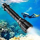 BlueFire Tauchlampe, 2000 Lumen XHP-50 LED mit 2 * 26650 Akku und ladegerät, Professionelle Super Hell Tauchen Taschenlampe, 150m Sicherheit Unterwasser Lampe