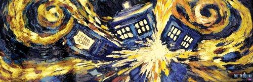 Culturenik Doctor Who Exploding Tardis TV Show Poster (Van Gogh 's Explodierende Tardis) Poster Druck 12x 36