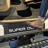 SENYAZON Super Duty Decal Sticker Carbon Fibre Vinyl Reflective Car Door Sill Decoration Scuff Plate for Ford Super Duty 4pcs (White)
