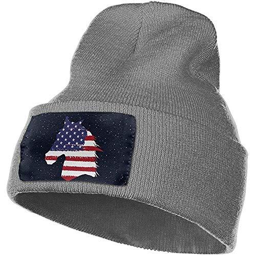 Montar a Caballo Hombres y Mujeres Gorros de Calavera Sombreros de Invierno cálido elástico de Punto Gorros