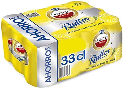 AMSTEL Radler Bier und kohlensäurehaltigem Zitronenwasser Dose DPG Bierpaket (EINWEG 36x33cl) (Pack 36 Dosen) Beer, Sor, Ol, Cerveza, Piwo, Olut, Biere, пиво, bier geschenke, biere der welt, bier set