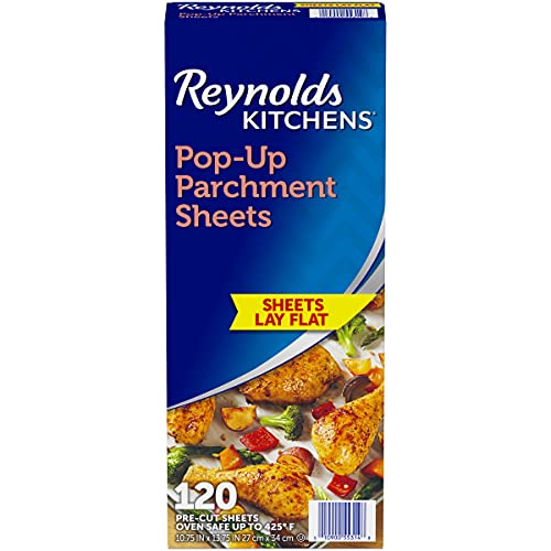 Reynolds Kitchens Pop-Up Parchment Paper Sheets, 10.7x13.6 Inch, 120 Count