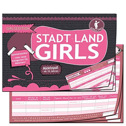 Stadt Land Fluss Mädchen Edition Girls Geschenk für Teenager Geschenke Spiel Quiz Mädelsabend Mädels