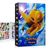 QIFAENY Album Pokemon, Album Pokemon Cartas, Álbum de Cartas coleccionables de Pokémon, Carpeta de Pokémon, Album Cartas Pokemon Tag GX EX, Capacidad para 30 páginas 240 Cartas (Dragonite)
