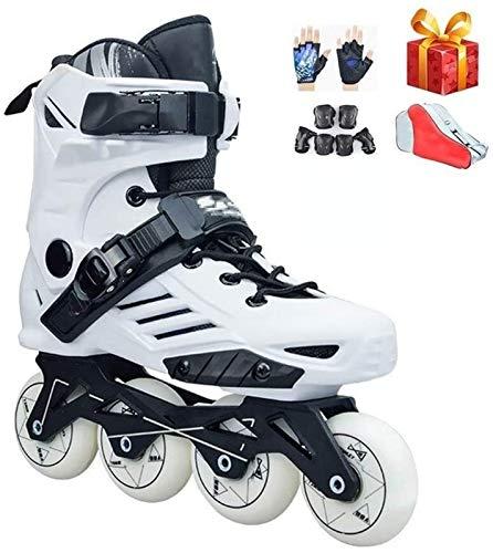 Al Aire Libre en el Interior niño Negro Patines en línea Deportes Fitness Patines de Rodillos Profesional cómodo Transpirable Blanco Racing Patines para Mujeres y Hombres Zapatos Patines