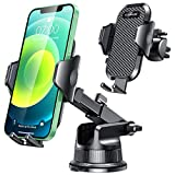 [2021 Upgraded] VANMASS Universal Car Phone Mount [for Trip & Family & Friend] Handsfree Windshield Dash Air Vent Phone Holder Car, Compatible with iPhone 12 11 Xs Max XR X SE Samsung S20 S10 Note 10