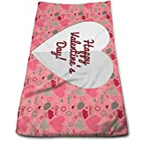Myhou Valentines Day Romantic Holiday Face Towels Highly Absorbent Washcloths Multipurpose Towels For Hand Face Gym and SPA 12' X 27.5'