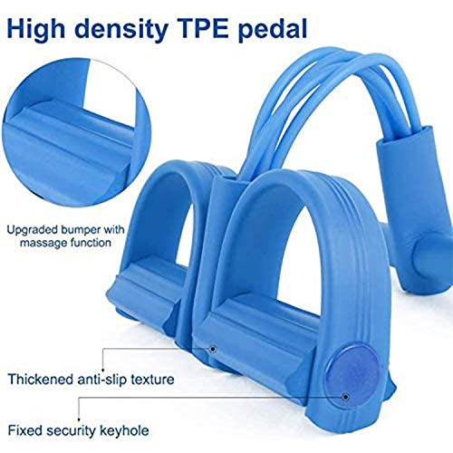 Ean Pedal resistance band, upgraded version of 4-tube yoga belt elastic tension rope, sit-up fitness equipment, yoga stretch resistance band, pedal fitness latex tube