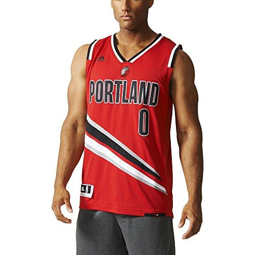 adidas Portland Trail Blazers NBA Swingman Trikot, Camiseta para Hombre, Multicolor (Rojo/Negro/Blanco), 2XL