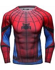 Cody Lundin Mannen Spider Hero Sport Koude Thermische Compressie Baselayer Lange mouwen Top Tee