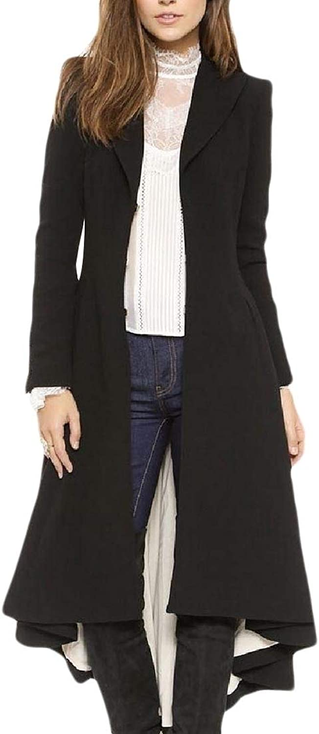 Bujun Women's Outwear Overcoat Wool Blended Graceful Peacoats