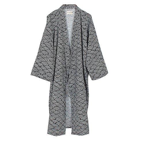 Hombres yukata Robes Kimono Robe Khan Vaporos Ropa Pijamas