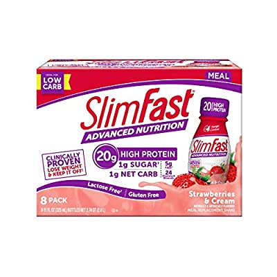 Slim Fast 8 Piece Advanced Nutrition Replacement Meal