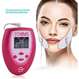 N /A Mini TENS EMS Masaje Facial Eléctrico Estimulación Muscular Electrónica + 2 Uds Electrodos Pegatina para La Cara + 2 Pegatinas para La Cara Masajeador Facial Herramienta para Adelgazar