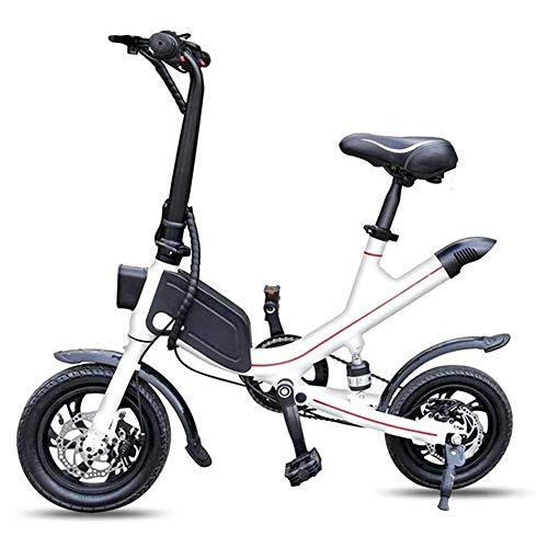 RXRENXIA Faltbare Zweirad-Elektroroller, Mini Batterie-Auto Erwachsener Lithium-Batterie Elektro-Scooter, Höchstgeschwindigkeit 35 KM/H