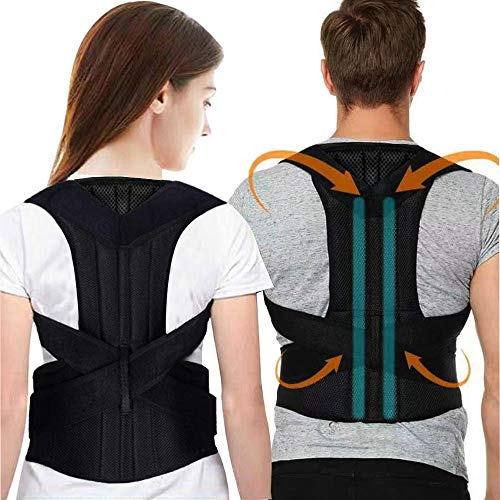 Back Brace,Posture Corrector for Men and Women Back Lumbar Support Adjustable Posture Corrector for Improve Posture and Back Pain Relief with Adjustable Soft Elastic Shoulder Straps (Large)