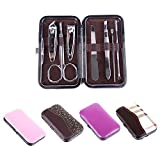 GLAMOUROUI 7-in-1 Manicure Pedicure Grooming Traveling and Home Accessories Kit (MUlticolour)