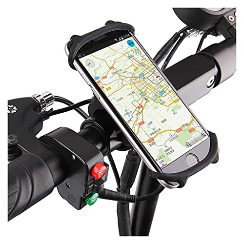 Soporte Celular Bicicleta Soporte para teléfono de bicicleta Slicone Compatible con iPhone XR 11 7 8 Plus X XS Max Compatible con Xiaomi Compatible con el teléfono móvil Monte Band Bike GPS Clip Unive