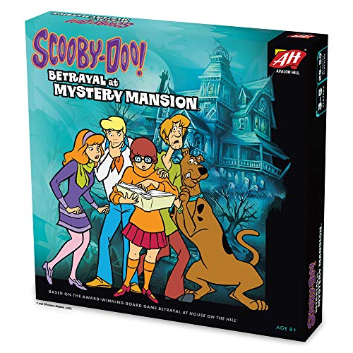 Scooby Doo in Betrayal at Mystery Mansion Official Scooby Doo + Betrayal at House on The Hill Board Game Ages 8+