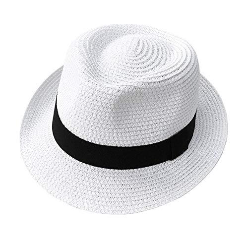 AIMICONG Cappello da Sole Cappello Estivo da Donna Cappello Estivo Cappello da Donna Cappello di Paglia Cappello da Donna Cappello Estivo Cappello da Sole Cappello Bianco Ombrellone Paglia Bianco