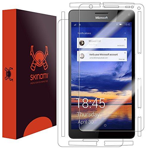 Skinomi TechSkin - Schutzfolie geeignet für Microsoft Lumia 950 XL - Vorder- & Rückseite