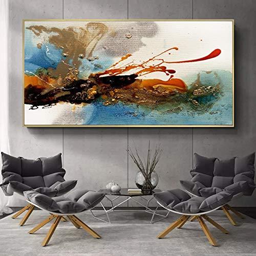 KWzEQ Imagen en Color Abstracto de la Pintura al óleo Abstracta Moderna decoración de la Sala de Arte de la Pared sobre Lienzo,Pintura sin Marco,30x60cm