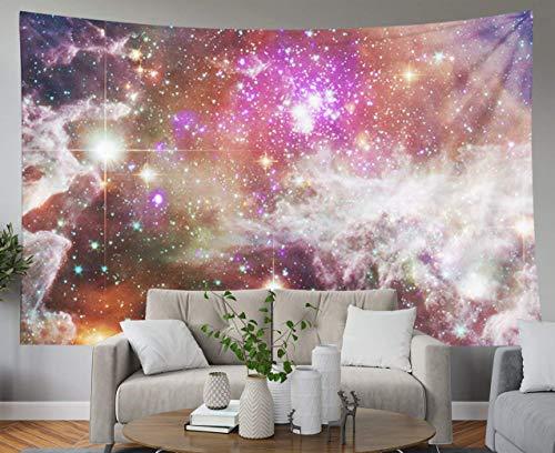 Tapices azules deslumbrantes, tapiz de pared colgante para D & eacute; cor Dormitorio de la sala de estar Fondo de galaxia con nebulosa Stardust y estrellas brillantes Elementos de esta imagen proporc