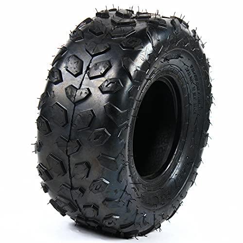 Juego de 4 ruedas, 145 x 70-6, neumáticos delanteros/traseros, montaje de neumáticos para cortacésped de 50-110 cc Go Kart Mini Bike ATV Quad