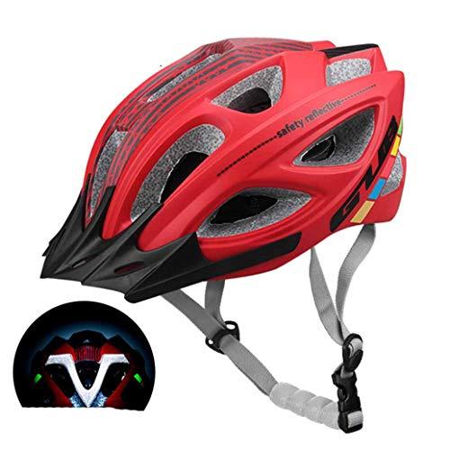 Mountainbike Helm Visier abnehmbar 18 Belüftungsöffnungen Atmungsaktiver Fahrradhelm Liner Waschbarer Fahrradhelm Reflektierend bei Nacht