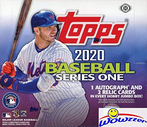 2020 Topps Series 1 MLB Baseball ENORMOUS Factory Sealed HTA HOBBY JUMBO Box with 460 Cards, 2 SILVER PACKS, (3) AUTO or RELICS & (5) GOLD FOIL PARALLELS! Loaded with RCs, Inserts & Parallels! WOWZZER