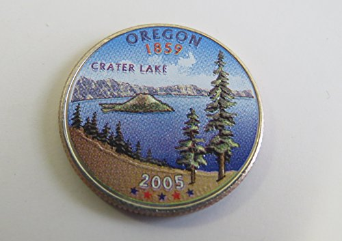 2005 Various Mint Marks Oregon State Colorized Quarter Choice Uncirculated
