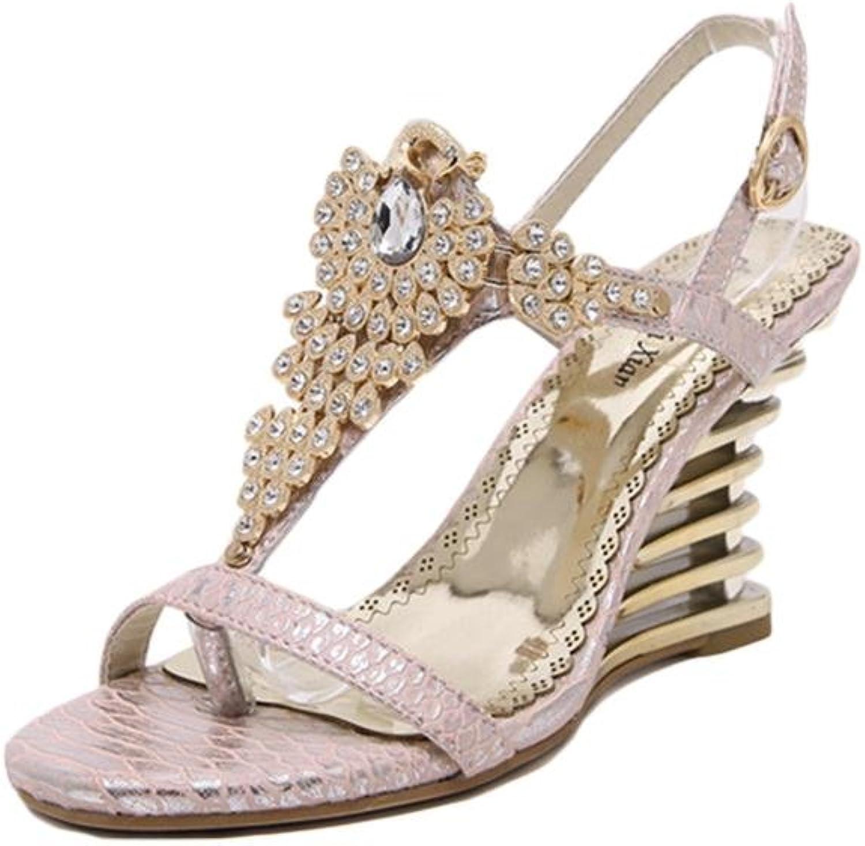 HIGHXE Sommer High Heels, Diamant Fisch Piste mit Sandalen, Mode und komfortabel