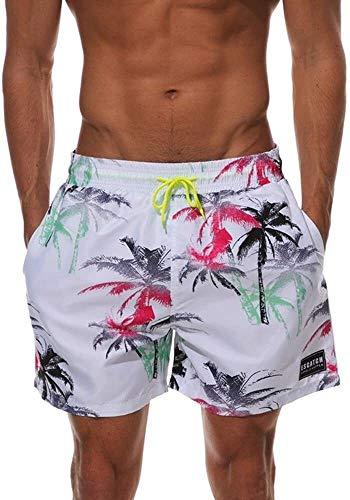 Traje de baño de moda Trunks de natación para hombres Pantalones de playa para hombres Secado rápido Tamaño grande Pantalones cortos casuales impresos 2 colores sueltos surf pantalones cortos adecuado