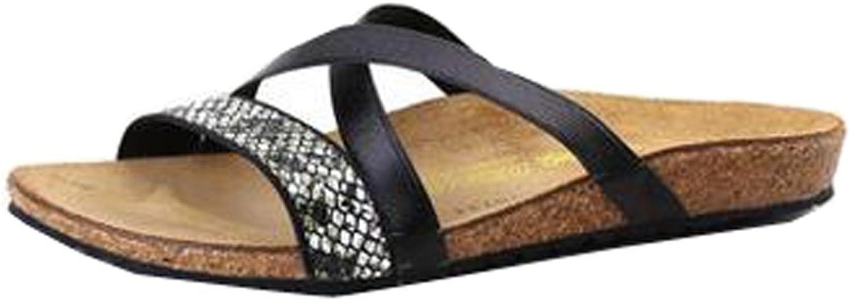 DILN UNbox Girls Wave Cross Strap Sandal Cork Shining Slippers