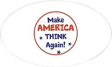 Best make america think again bumper sticker Reviews
