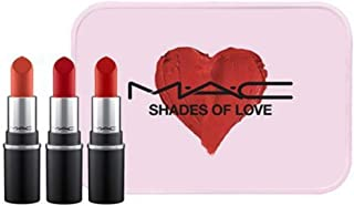 MAC SHADES OF LOVE MINI MAC KIT-Ruby Woo,RUSSIAN RED,CHILLI 【並行輸入品】
