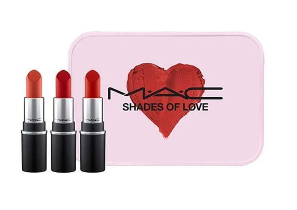 吹きさらしセージ下手MAC SHADES OF LOVE MINI MAC KIT-Ruby Woo,RUSSIAN RED,CHILLI 【並行輸入品】