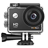 Action Camera HD 1080P Sports Camera Waterproof 30M (IP68) Underwater Camera 12Mp Motorcycle Helmet WiFi Action Cam Bike Forehead Cycling Snorkeling Climbing with Mounting Kit for Kids DveeTech
