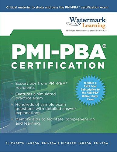 Pmi Pba Certification Study Guide