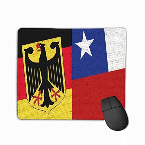 Rechteck rutschfeste Gummi Mousepad Deutschland Chile Flagge Stoff Textur hochauflösende zwei Flagge zusammen Deutschland Chile Flagge