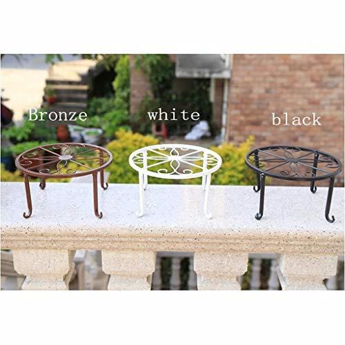 XYHX Bloem frame smeedijzer binnen en buiten ronde kruk woonkamer balkon dragende pot rack plantenstandaard (volledig, twee stukken te koop)